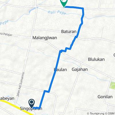 Dusun III, Kecamatan Kartasura to Banaran, Kecamatan Ngemplak