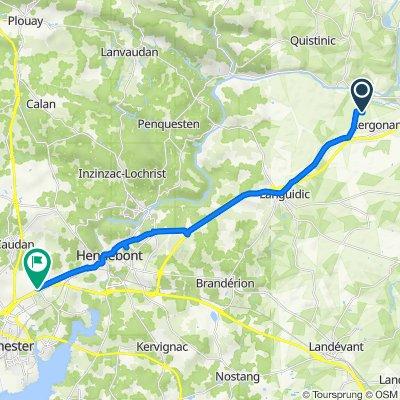 Route from Kerdaniel, Languidic
