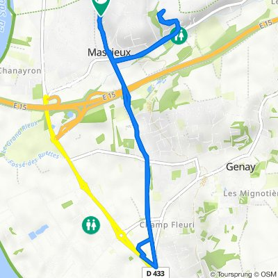 De Route de Reyrieux 224, Massieux à Route de Reyrieux 224, Massieux