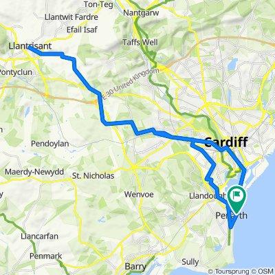 Llantrisant to Penarth Pier via Cardiff Bay