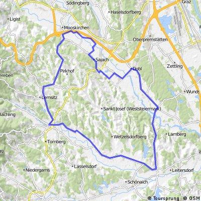 """Radteam Lannach Gemeinderadtag am 29. Mai 2011 (Strecke B """"MITTEL"""", 51 km); GRÜN"""