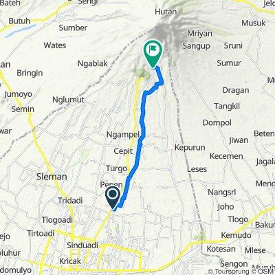 Jalan Bima 39, Kecamatan Ngaglik to Kinarejo, Kecamatan Cangkringan