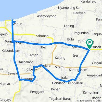 Jalan Perintis Kemerdekaan 11, Kecamatan Petarukan to Jalan Perintis Kemerdekaan 11, Kecamatan Petarukan