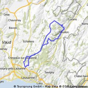 56km: Thierrens - Moudon - Peney
