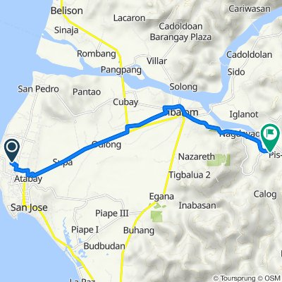 San Jose de Buenavista to Unnamed Road, Sibalom