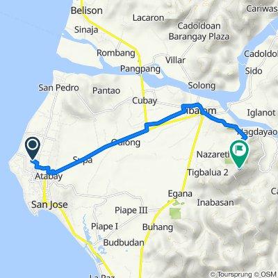 San Jose de Buenavista to Mabini, Sibalom