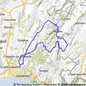 76km: Thierrens - Vauderens - Peney