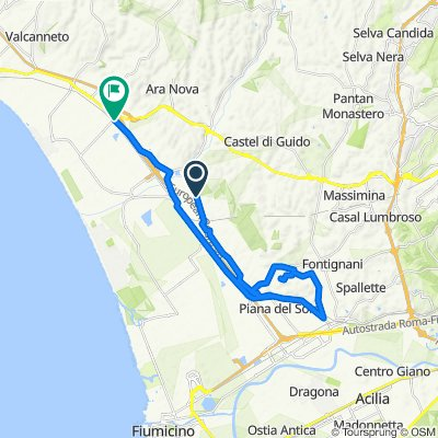 Da Via di Maccarese, Roma a Via della Muratella 1679, Centro Tre Denari