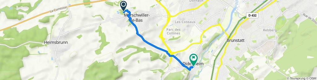 De 9 Résidence du Moulin, Morschwiller-le-Bas à Rue des Carrières, Didenheim