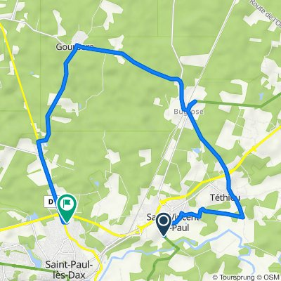 Route de l'Adour, Saint-Vincent-De-Paul to 5 Rue des Bruyères, Saint-Paul-lès-Dax