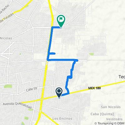De Calle 16, Villas de Oriente a Calle 12 377, Mérida