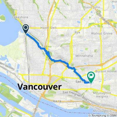 Burnt Bridge Creek Greenway Trail, Vancouver to Burnt Bridge Creek Greenway Trail, Vancouver