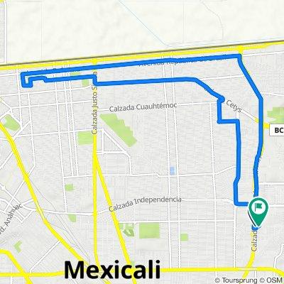 Paseo San Jerónimo O 1514, Mexicali to Privada San Jerónimo 1839, Mexicali