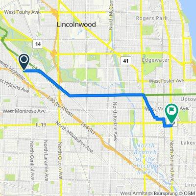 5501–5513 N Mango Ave, Chicago to 3941 N Ashland Ave, Chicago