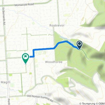 Morialta Falls Road, Woodforde to 25A Derwent Avenue, Magill