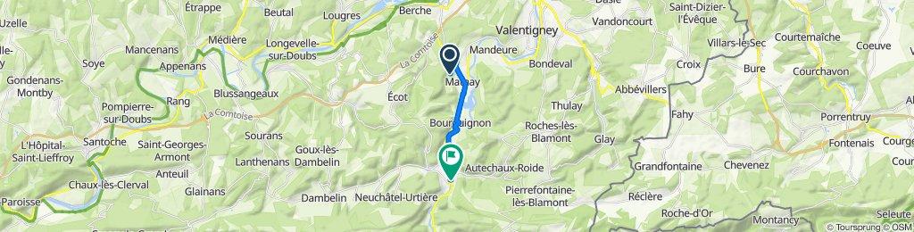 Itinéraire vers 14A Rue du Général Herr, Pont-de-Roide