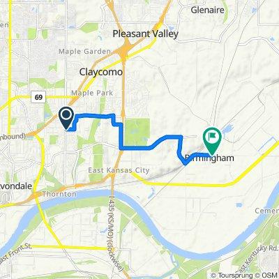 5015 NE 45th St, Kansas City to E Fifth St, Birmingham