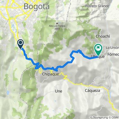 De Carrera 3a Bis Este 96-52, Bogotá a Calle 3 5-07, Ubaque