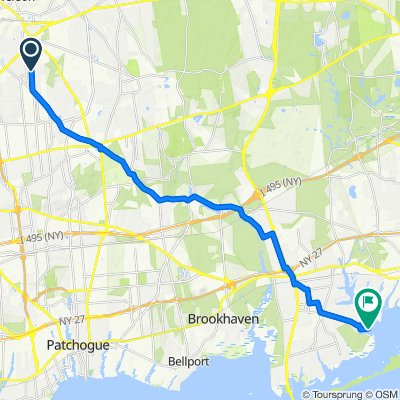 445 Jayne Blvd, Port Jefferson Station to 1–9 Oceanview Dr, Mastic Beach
