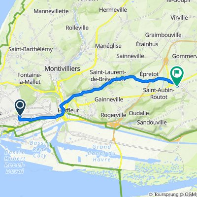 Le Havre - St Romain via St Laurent Bikemap