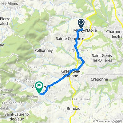 De 42 Chemin des Églantines, Marcy-l'Étoile à 188 Chemin des Alouettes, Vaugneray