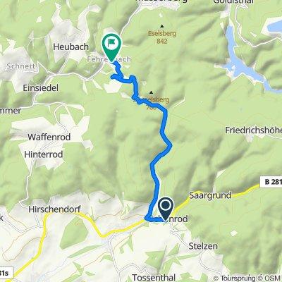 Hauptstraße 34, Eisfeld nach Zur Werraquelle 55, Masserberg