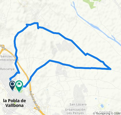 De Carrer de l'Aurora 24, La Pobla de Vallbona a Carrer de les Eres 82, La Pobla de Vallbona