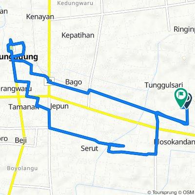 Unnamed Road, Kecamatan Kedungwaru to Unnamed Road, Kecamatan Kedungwaru