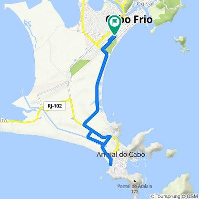 De Rua Nicola Aslam, 72, Cabo Frio a Rua Nicola Aslam, 72, Cabo Frio