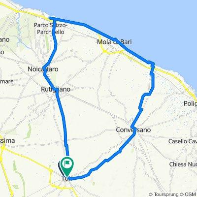 Da Vico Sesto Casamassima 3–31, Turi a Via Cavour 19–23, Turi