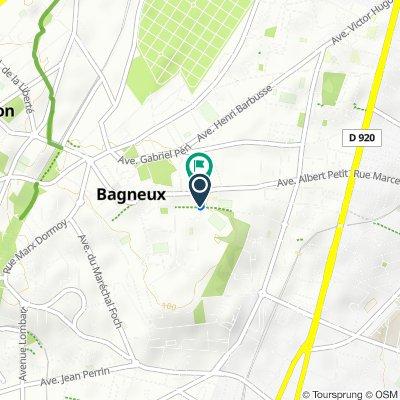 De Rue des Blains, Bagneux à 1 Rue François Laurent Gibon, Bagneux