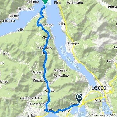 Da Via del Ponte 1, Civate a Via Eugenio Vitali 30, Bellagio
