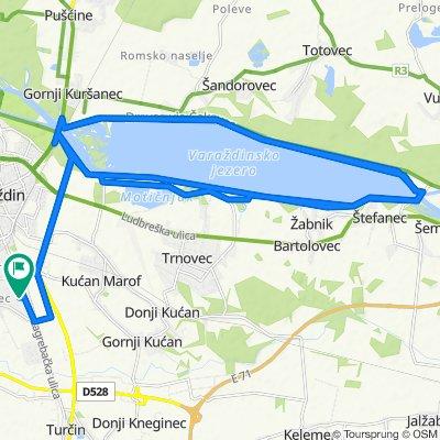 Zagrebačka ulica 160C, Varaždin to Zagrebačka ulica 160C, Varaždin