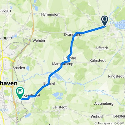Heuss-Straße 1, Geestland nach Schiffdorfer Chaussee 242, Bremerhaven