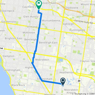 70 Grange Road, Melbourne to 2–4 Mile End Road, Carnegie