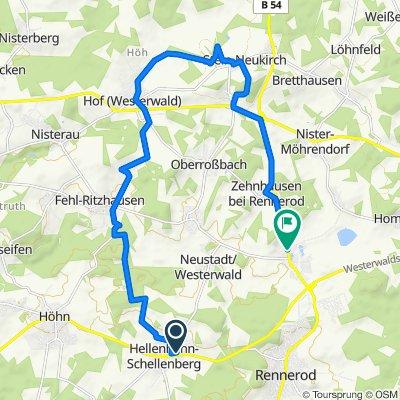 Talweg 5, Hellenhahn-Schellenberg nach Waigandshainer Straße 1, Rennerod