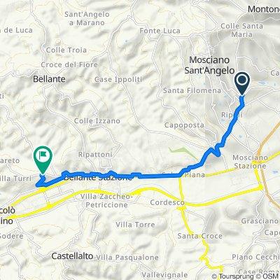 Da Via del Casale, Convento Zoccolanti a Contrada Sant'Atto 35, Sant'Atto