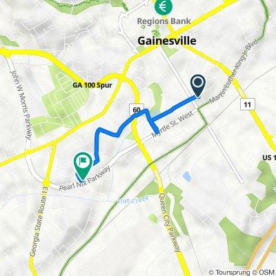 124 SE High St, Gainesville to 1100–1298 Erskin St, Gainesville