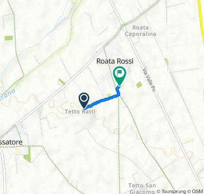 Da Via Tetto Ratti 23 a Via Antica di Busca 122a, Roata Rossi