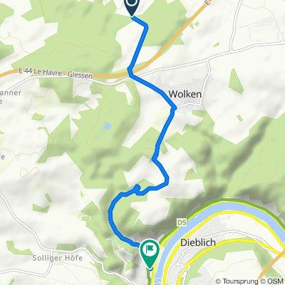 Karmelenbergerweg, Bassenheim nach Moselweg 9, Kobern-Gondorf