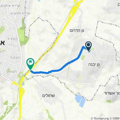 HaMalkosh Street 6, Gan Yavne to Gan Yavne