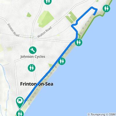 Route to 1 The Esplanade, Frinton-On-Sea