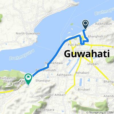 Hem Chandra Road 65, Guwahati to Padma Nath Gohain Baruah Road, Guwahati
