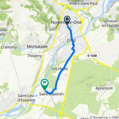 De 23 Rue Gambetta, Nogent-sur-Oise à 15 Rue Jean Jaurès, Saint-Maximin