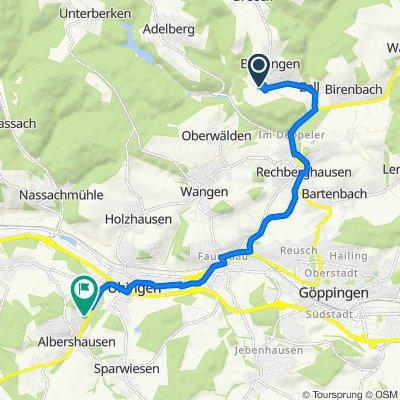 Stockbrunnenweg 3–9, Börtlingen nach Waldeckstraße 10, Albershausen