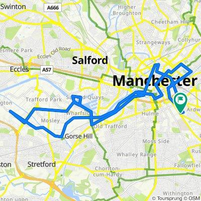 Trafford Centre & Back (via Manchester City Centre & Salford Quays)