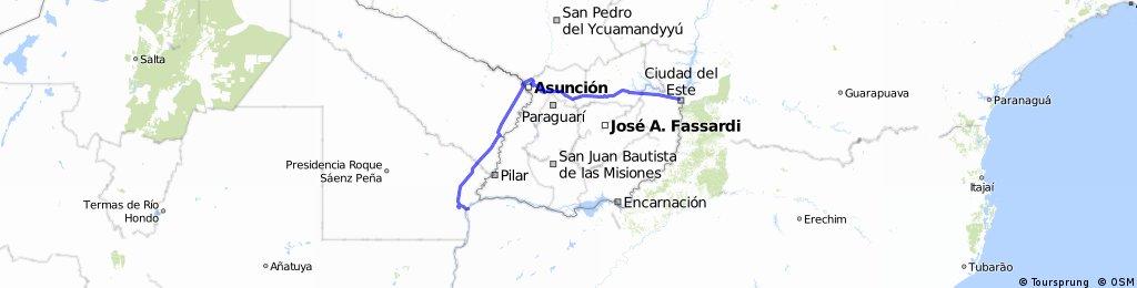 Parte 2: Paraguay. De Corrientes a Ciudad del Este.