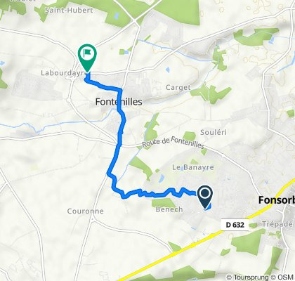 19 Chemin Bénech, Fonsorbes nach D65d, Fontenilles