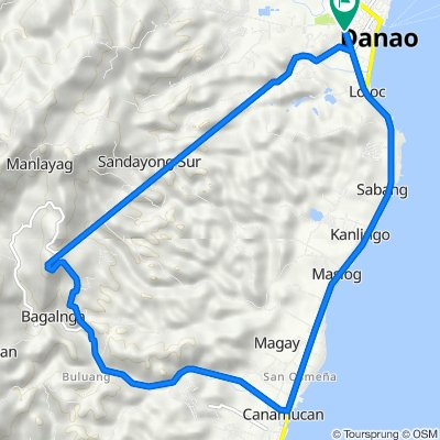 C.M. Enriquez Street 501, Danao City to C.M. Enriquez Street 501, Danao City