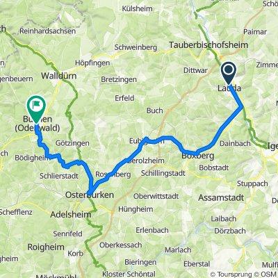 Main-Tauber-Fränkischer Rad-Achter: Westring 1. Etappe